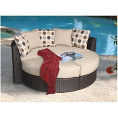 Atlantis Wicker Patio Daybed Set