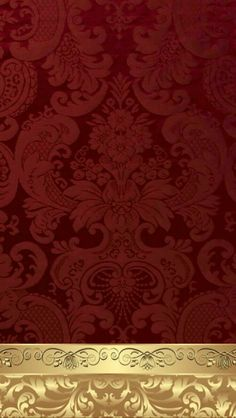 By Artist Unknown. Red And Gold Wallpaper, Luxury Wallpaper, Wedding Card Design, Wedding Cards, Screen Wallpaper, Wallpaper Backgrounds, Cellphone Wallpaper, Iphone Wallpaper, Phone Themes