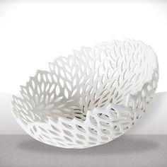 openwork porcelain basket