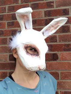 A personal favourite from my Etsy shop https://www.etsy.com/uk/listing/527224699/white-rabbit-paper-mache-animal-mask
