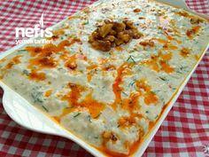 Ezme Karnabahar Salatası Turkish Kitchen, Salad Bar, Cheeseburger Chowder, Quiche, Salad Recipes, Mashed Potatoes, Macaroni And Cheese, Salads, Soup