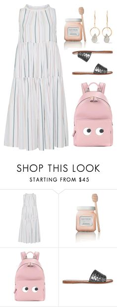 """Pastels"" by cherieaustin on Polyvore featuring Asceno, Laura Mercier, Anya Hindmarch, Bottega Veneta and Melissa Joy Manning"