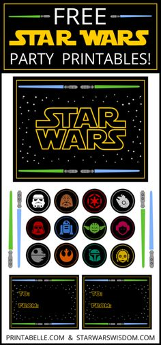 Free Star Wars Party Printables and more – Free Party Printables at Printabelle