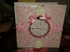 Three page Wedding card, will pin the inside on the next page...