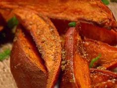 Spicy Sweet Potato Wedges | Paleo Dinner recipes |    Prep time: 10 min Cook time: 15 min Ready: 25 min Yields: 4 servings Ingredients:  2 lb. sweet potatoes, cut into wedges  1 tablespoon olive oil 1 tablespoon dried oregano 1 tablespoon grounded peppercorns 1 tablespoon thyme 1 tablespoon paprika 3 teaspoon garlic powder