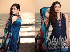Kareena Kapoor Khan for Faraz Manan's Crescent Lawn Collection 2015.