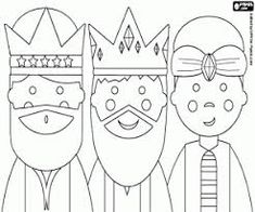 Three Kings or Three Wise Men coloring pages printable games Kids Christmas, Christmas Lights, Christmas Crafts, Christmas Ornaments, Free Coloring Pages, Printable Coloring Pages, Coloring Sheets, Faith Crafts, Man Crafts