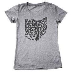 OHIO TREE OF LIFE Women's Tri-Blend T-Shirt