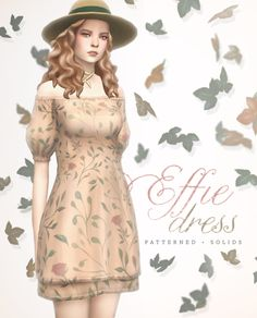 the sims 4 maxis match dress - effie dress by litttlecakes Sims 4 Cc Packs, Sims 4 Mm Cc, Sims Four, Pelo Sims, Sims 4 Blog, Sims 4 Dresses, Party Dresses, Sims4 Clothes, Sims 4 Clothing