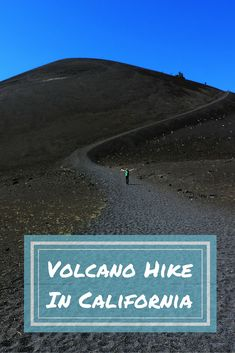 Hiking Down To A Volcano Crater In California