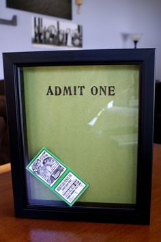 Ticket Stub Memory Box Tutorial by The Thinking Closet