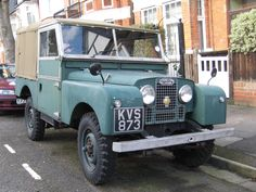 "LAND ROVER SERIES ONE 86"" SOFT TOP GREEN 