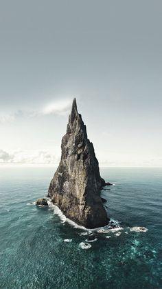 Vast Ocean Rock Landscape iPhone 6 wallpaper