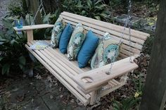 online shopping for 5 Foot Handmade Cypress Porch Swing Cupholders from top store. See new offer for 5 Foot Handmade Cypress Porch Swing Cupholders Canopy Outdoor, Outdoor Seating, Outdoor Decor, Outdoor Swings, Outdoor Stuff, Outdoor Spaces, Patio Furniture Sets, Outdoor Furniture, Furniture Nyc