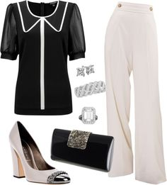 """""""Black and White Opera"""" by fiftynotfrumpy on Polyvore"""