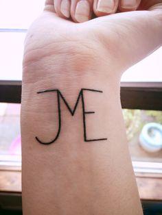 Sister tatto. JME = Julie, Maria and Emma <3
