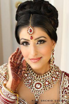 Pink Orchid Studio International Makeup Art Hair Design Indian Bridal