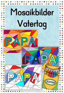 Mosaikbilder Vatertag | Download bei Lehrermarktplatz Daddy, Crafts For Kids, Ideas For Gifts, Special Gifts, Teaching Materials, Parenting, Cards, Kunst, Crafts For Children