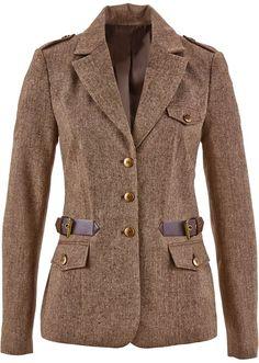 Σακάκι tweed Καφέ σκούρο μελανζέ bpc selection bonprix collection | 49.99 € | bonprix
