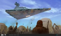 ArtStation - Alex Kim's submission on ILM Art Department Challenge - The Moment Star Wars Rpg, Star Wars Ships, Lucas Arts, Star Wars Characters Pictures, Galactic Republic, Star Wars Concept Art, Art Competitions, Star Destroyer, To Infinity And Beyond