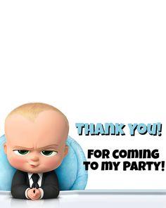 Risultati immagini per boss baby party Minion Birthday Invitations, Boss Birthday, Baby Boy 1st Birthday Party, Baby Invitations, Baby Party, Birthday Ideas, Thank You Boss Card, Baby Thank You Cards, Baby Boy Cards