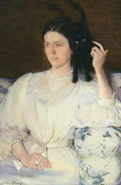 "Cecilia Beaux's ""Sita and Sarita"" recalls Whistler's exploration of the formal possibilities of the color white."