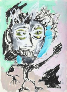 """This original work titled """"Man 005"""" is 30x42 cm in oil stick & acrylic on paper (90 gr.). It was made in June 2016 in Spain and is signed and dated on the back. It will ship carefully rolled up in ..."""