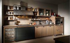 Nello showroom di Lupi Arredamenti di Mantova troverete la cucina Industrial Chic del marchi l'Ottocento, una cucina dallo stile post-industriale.