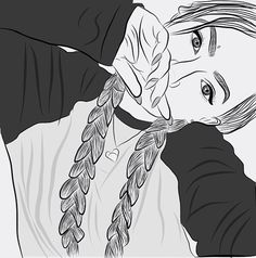 Uploaded by ↠ melancholia ↞. Find images and videos about art, draw and illustration on We Heart It - the app to get lost in what you love. Tumblr Outline Drawings, Tumblr Girl Drawing, Tumblr Art, Tumblr Girls, Illustration Sketches, Art Drawings Sketches, Cute Drawings, Draw On Photos, Pictures To Draw