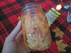 DIY: Autumn Leaves Mason Jar
