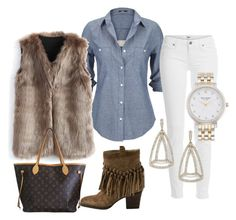 """""""Just love it"""" by kelly-davis-jones on Polyvore featuring Silver Jeans Co., Chicwish, Paige Denim, Adriana Orsini, Sbicca, Louis Vuitton and Kate Spade"""