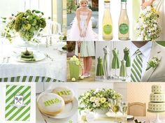 Pretty greens wedding collage- the softer greens I absolutely love!