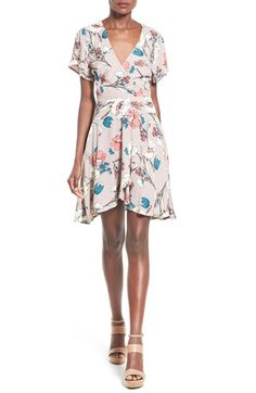 ASTR Floral Print Wrap Dress