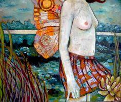 mixed media art on canvas- Leo-Vinh- 2013