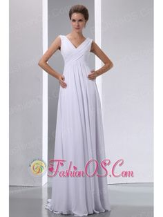 White Empire V-neck Maternity Wedding Dress Chiffon Beading and Ruch Floor-length- $138.69  http://www.fashionos.com  http://www.facebook.com/quinceaneradress.fashionos.us  It features a bodice wiht straps, which is teeming with pleats. The sequins on it makes it more shining. The skirt falls down directly, which is a demonstration of elegance. A stunning dress for those occasions when you really want to 'wow' the crowd.
