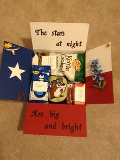 Texas themed care package