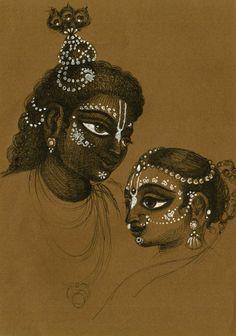 Lord Ganesha Paintings, Krishna Painting, Mysore Painting, Krishna Drawing, Pichwai Paintings, Indian Art Paintings, Krishna Statue, Krishna Art, Radhe Krishna