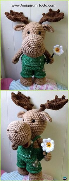 Amigurumi Crochet Art the Moose Free Pattern - Crochet Moose Free Patterns