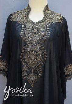 Very Fancy Chiffon Caftan Moroccan with Sequin Embroidery detailed. ✿ The fabric is made of Polyester Top Quality ✿ The Caftan is sheer chiffon material ✿