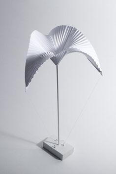 Maquettes for Tripleat by Richard Sweeney - 2009  -    Paper, wood, cotton thread, brass eyelets  -    www.richardsweeney.co.uk