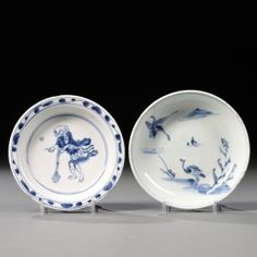 Two Kosometsuke Dishes, China, Late Ming Dynasty, One