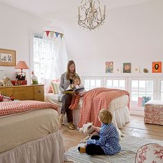 Vintage toys, colorful books, and classic prints in cheery shades infuse this kid's room with a happy-go-lucky vibe. | Coastalliving.com