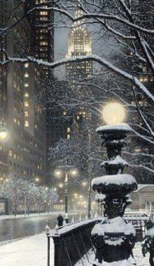 New York l'hivers...
