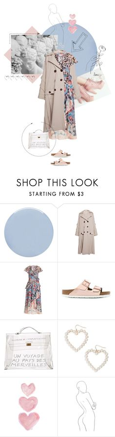 """""""""""I adore simple pleasures. They are the last refuge of the complex."""" ― Oscar Wilde"""" by tasteofbliss ❤ liked on Polyvore featuring Deborah Lippmann, Isa Arfen, Temperley London, Birkenstock, Hermès, BP. and Shabby Chic"""