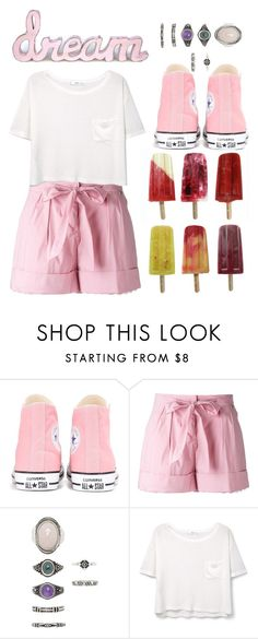 """""""Ice Cream"""" by ginga-ninja ❤ liked on Polyvore featuring Converse, Twin-Set, Forever 21, MANGO and icecreamtreats"""