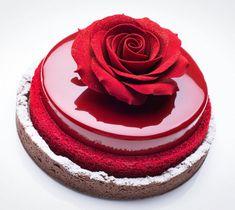 Beautiful Rose Mirror Cake in categories Mirror Cakes / Cakes Cake Decorating Tools, Cake Decorating Techniques, Decorating Ideas, Beautiful Cakes, Amazing Cakes, Stunningly Beautiful, Mirror Glaze Cake, Fashion Cakes, Rose Cake