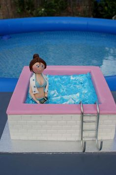 swimming pool cake by ~Verusca on deviantART