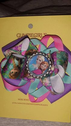Elsa and Anna Boutique Bow by GumpiegirlsGifts on Etsy