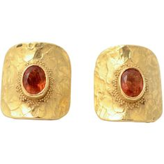 Preowned Ed Wiener Citrine Gold Earrings ($2,800) ❤ liked on Polyvore featuring jewelry, earrings, multiple, preowned jewelry, gold jewelry, yellow gold earrings, gold earrings and citrine earrings