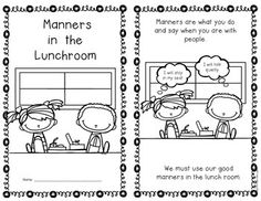 {Lunchroom Manners} Social Studies Emergent Reader Kindergarten and First Grade. 10 pages; includes color and blackline. $